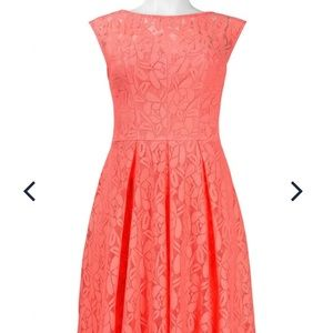 NWT London Times coral lace dress